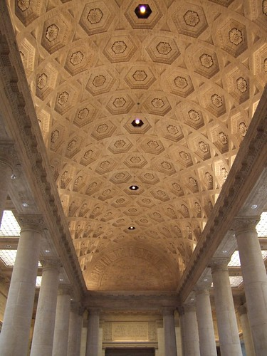 Ceiling above the stairs