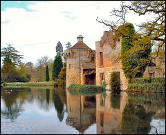 Scotney Castle, Lamberhurst,  Kent (Lincolnian (Brian)) Tags: england tower castle water beautiful gardens reflections kent nt lovely1 abc nationaltrust soe abw scotneycastle lamberhurst splendiferous 50club shieldofexcellence travelerphotos castlespalacesmanorhousesstatelyhomescottages oncewashome