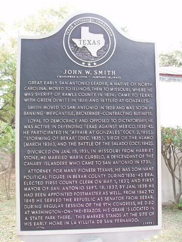 John W. Smith ( November 4, 1792 -January 18, 1845)