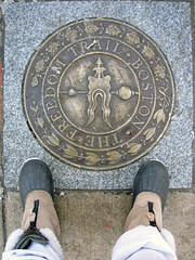boston freedom trail perspective on feet