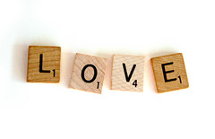 love scrabbled (Something To See) Tags: love word letters valentine scrabble allyouneedislove