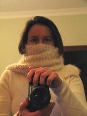 Autoscatto con sciarpa