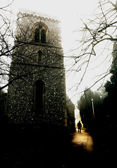 The Exorcist (Flying Fin) Tags: england church silhouette fog bravo foggy churchyard somber exorcist caversham theexorcist colorphotoaward travelerphotos 433explore030207