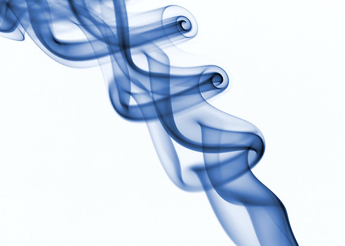 smoke in blue by Idle Type.