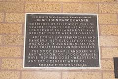 Honoring 97th Birthday, November 22, 1965, of Judge John Nance Garner (ednurseathkh) Tags: person texas judge rancher lawyer uvalde banker texashistoricalmarker uvaldecounty medallionplate honoring97thbirthdaynovember221965ofjudgejohnnancegarner