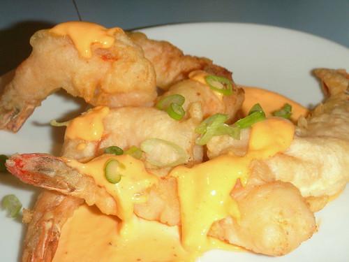 shrimp tempura with sambal aioli