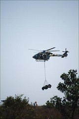 Indian Army chopper in action