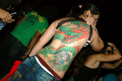 green dragon tattoo · e-concert, originally uploaded by Bruno Costa(Buda).