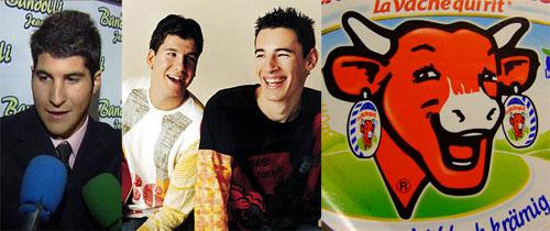 Parecido razonable entre Andy y Lucas, Julian Contreras y la vaca que rie