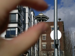 I'm crushing the Space Needle