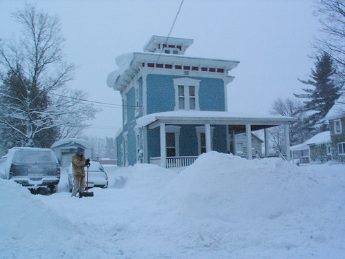 The Fixer-Upper buried in snow