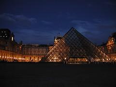 Paris Louvre Pyramid at Night (sfazli) Tags: paris france architecture nightshot louvre olympus greatshot c3040z