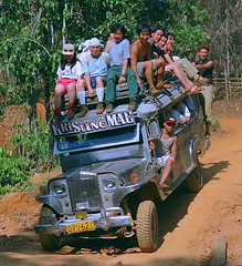 jeepneys (stefanottomanski) Tags: camp car philippines transport culture vehicle palawan gettingaround cabayugan oldpalawan campcult