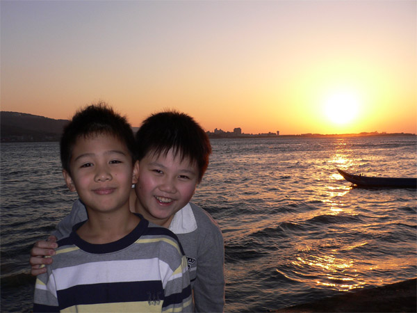 Brothers and Sunset