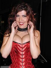 Pa090120040025 copie (AlainG) Tags: las vegas 2004 fetish models olympus bondage monet latex corset sasha heel stiletto bondcon c2100