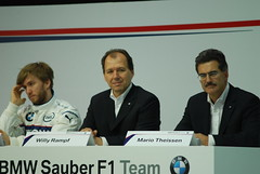 Nick Heidfeld, Willy Rampf & Mario Thiessen