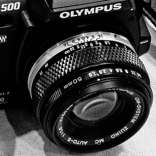 OM lens on Four Thirds camera