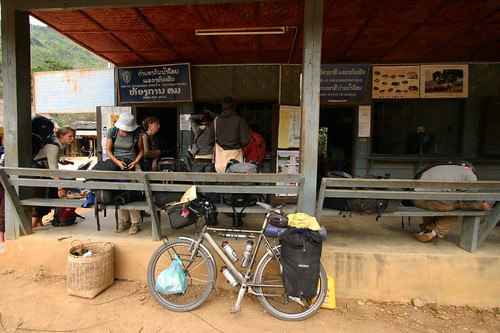 At the Lao border post...