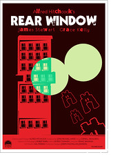 REAR WINDOW POSTER (ognavneterjanne) Tags: windows color colour classic film movie poster binocular oldstyle apartment movieposter rearwindow hitchcock plakat jamesstewart gracekelly alfredhitchcock googles