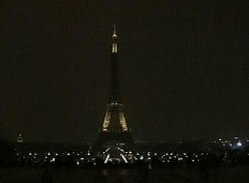 Torre Eifel apagada