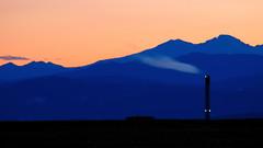 Stacked Colorado Rockies Sunset (Fort Photo) Tags: blue sunset orange mountains landscape rockies nikon bravo colorado searchthebest smoke stack smokestack trophy rockymountains minimalist 2007 rawhide blueribbonwinner clff abigfave anawesomeshot colorphotoaward superbmasterpiece