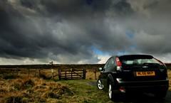 (andrewlee1967) Tags: uk england car landscape derbyshire moors zetec fordfocus helluva andrewlee instantfave p1f1 canon400d andrewlee1967 impressedbeauty focusman5