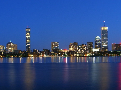 Boston behind Charles River