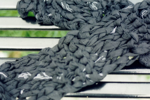 lace handmade yarn scarf