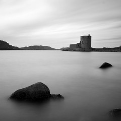 Cromwell's Castle (Adam Clutterbuck) Tags: ocean longexposure sea blackandwhite bw seascape castle 20d monochrome square landscape island mono coast blackwhite cornwall waves rocky canoneos20d bn minimal coastal shore elements bandw simple sq oe scilly tresco islesofscilly distilled simplified scillyisles greengage cromwellscastle adamclutterbuck cornishcoast sqbw bwsq showinrecentset openedition