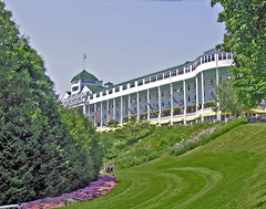 Grand Hotel (***Bud***) Tags: trees island hotel photo nikon michigan grand coolpix mackinacisland mackinac 8700 anawesomeshot travelerphotos