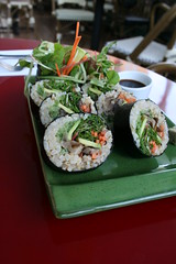 veggie rolls at cafe la vie