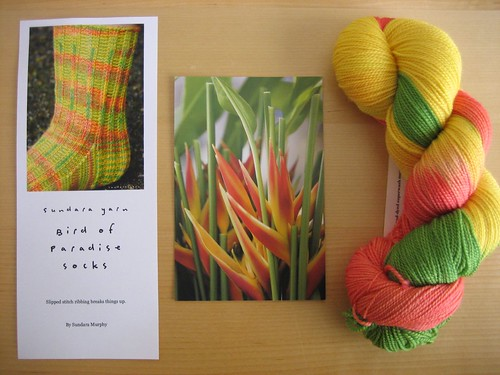 Bird of Paradise yarn and pattern