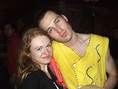 Сальсера Танечка с инструктором по salsa Алексом. Одесса.