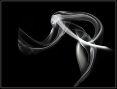 Smoke Creature - Black (Lumendipity) Tags: abstract art sdr searchthebest smoke alien rook creature smokeart diamondclassphotographer flickrdiamond smokephotography lumendipity yesthisissmoke wwwlumendipitycom
