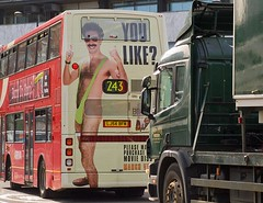 You like? Borat advertisement on London bus, route 243.