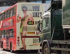 You like? Borat advertisement on London bus, route 243.