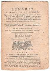 LUNARIO, 1824 ed (CGoulao) Tags: old weather book traditional document meses popular forecast meteorology calendrio tradicional astrologia dgua borda 1824 ms meteorologia prever astrologie mensal previso lunario prognostico antecipar