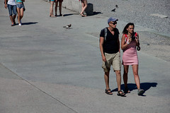 Strolling (Ktoine) Tags: camera street candid crimea yalta russia legs people feet hot summer pigeons