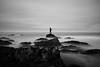 Immovable (Felipe Sepúlveda R.) Tags: long exposure black white landscape ocean sea seashore nd sony a77ii wide angle sigma rocks beach