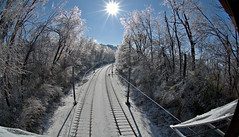 Enchantment ahead (debunix) Tags: park storm ice saint forest louis december 2006 fisheye metrolink cotcpersonalfavorite cmwdblue