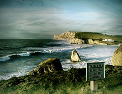 Freshwater Bay, Isle of Wight Landscape. Take Care, Cliff edges can be dangerous (s0ulsurfing) Tags: ocean light sea sky cliff seascape storm colour green beautiful grass birds sign rock danger composition wow wonderful painting skyscape spectacular landscape island coast mar photo amazing intense dangerous fantastic rocks flickr surf waves shadows superb quality gorgeous awesome dramatic surreal wave stormy 2006 ps special coastal photograph isleofwight processing attractive stunning getty ambient romantic strong rough rollers tempest cinematic roar landschaft iconic isle brilliant cloudscape channel wight breathless freshwaterbay s0ulsurfing jasonswain