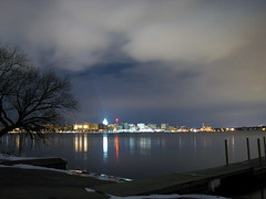 Nice clouds (Mazda6 (Tor)) Tags: park light lake tree night clouds boat long exposure downtown capitol launch monona olin