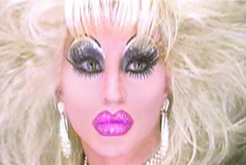 Heavy make up transvestite
