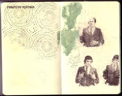 ...reactive spirals (the3robbers) Tags: man moleskine spirals large sketchbook transfer solvent fairburn the3robbers