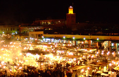 Djemaa El Fna at night (Lord_Gnome) Tags: africa food night market morocco berber marrakech djemaaelfna