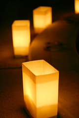 Luminarias photo by AZAdam. At the Beacon Hill Library on Saturday, learn basic paper-cutting techniques using scissors and a hole puncher to make your own decorative Day of the Dead luminaria.