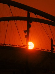 sweet music from solar harp... (poly_mnia) Tags: sunset orange sun colour silhouette colours silhouettes athens greece oaka athensolympicstadium marousi maroussi dearflickrfriend ysplix