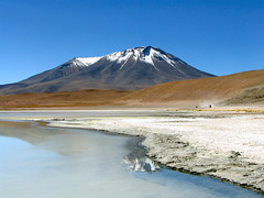 Sleeping volcano (Danil) Tags: travel blue sky sun white mountain snow reflection water colors beautiful rock contrast landscape geotagged volcano big scenery rocks tour view desert jeep altitude salt rocky dry bolivia erosion formation explore minerals laguna dust slope interestingness9 vulcano uyuni interestingness5 supershot flickrfly 30faves30comments300views superaplus aplusphoto unature geo:lat=2157058869339829 geo:lon=6803823867998203 ge:tilt=9736154738936841 ge:head=4842913788260655 ge:range=1642633568244281 holidaysvacanzeurlaub superhearts favescontestwinner lpskyline