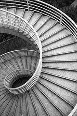 Spiral Stairs (YY) Tags: bw stairs composition hongkong blackwhite great staircase 1785mm