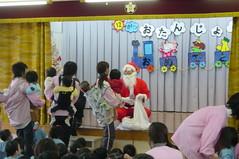 サンタが幼児園にやってきた